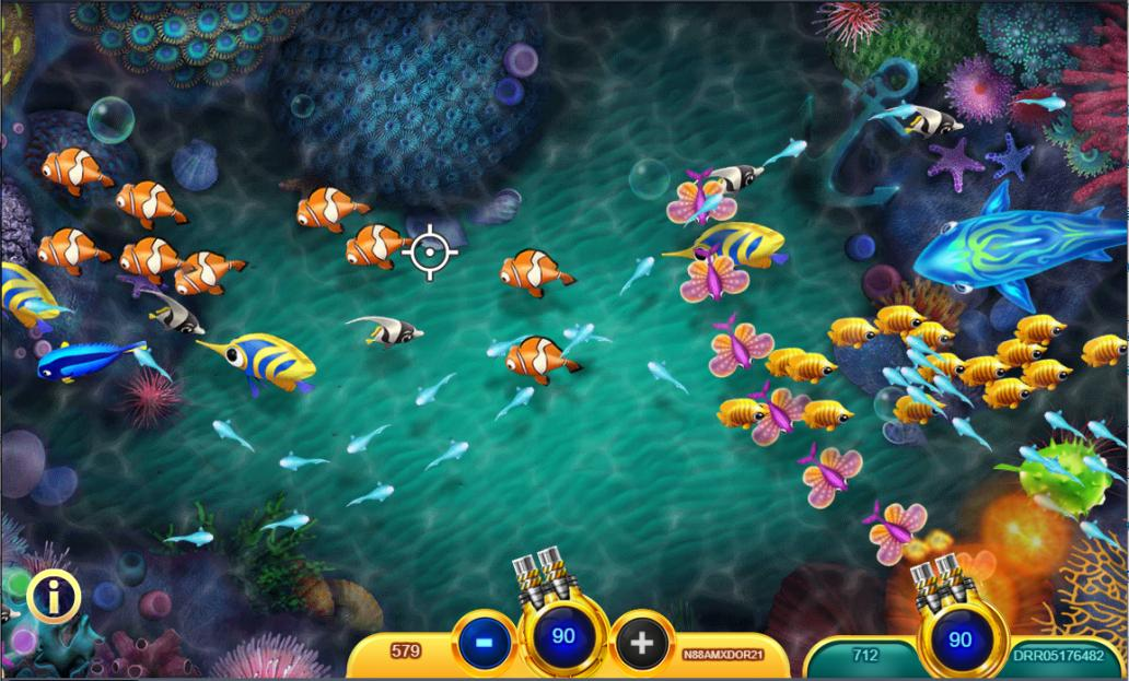 เกมยิงปลาออนไลน์ กับกราฟฟิกท้องทะเลที่สวยงาม ทำให้เพลิดเพลินไปกับการเล่น